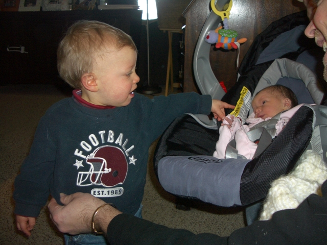 Hunter Welcomes Lila Home