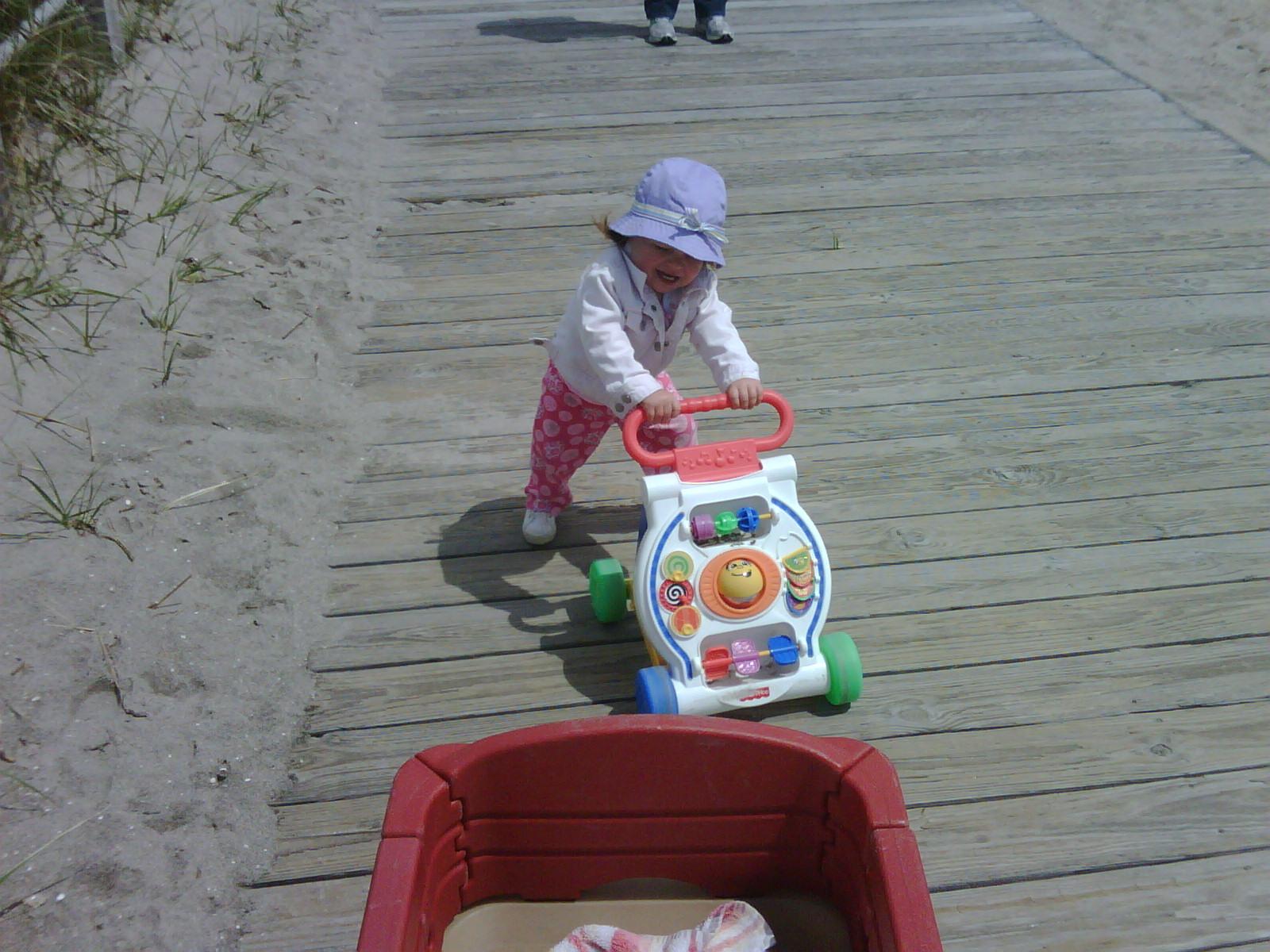 Lila practice walking